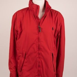 Polo Ralph Lauren Jacket Coat Medium Red Fleece
